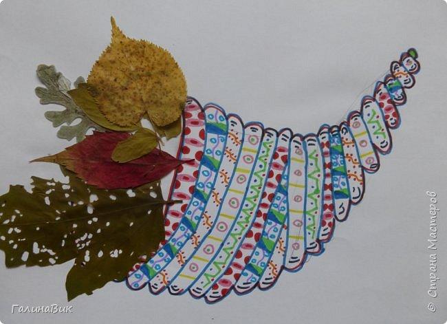 Всем добрый день! Осень постепенно отдаёт бразды правления зиме. Она (осень), как всегда, прекрасна многобразием красок!!! С пятиклассниками сделали работы, посвящённые замечательному времени года! Это мой образец. фото 10
