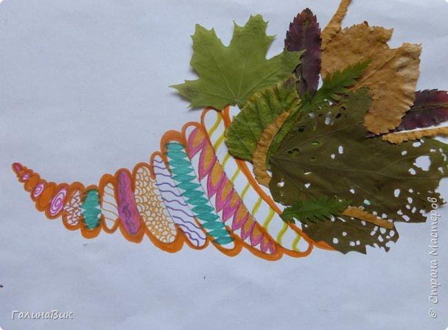Всем добрый день! Осень постепенно отдаёт бразды правления зиме. Она (осень), как всегда, прекрасна многобразием красок!!! С пятиклассниками сделали работы, посвящённые замечательному времени года! Это мой образец. фото 13