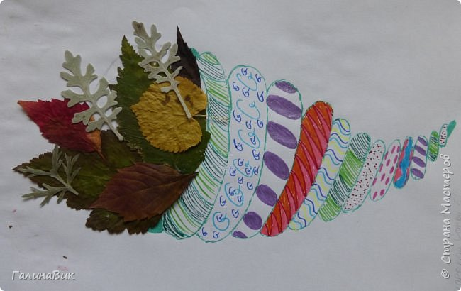 Всем добрый день! Осень постепенно отдаёт бразды правления зиме. Она (осень), как всегда, прекрасна многобразием красок!!! С пятиклассниками сделали работы, посвящённые замечательному времени года! Это мой образец. фото 14