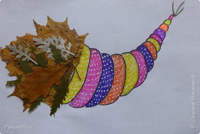 Всем добрый день! Осень постепенно отдаёт бразды правления зиме. Она (осень), как всегда, прекрасна многобразием красок!!! С пятиклассниками сделали работы, посвящённые замечательному времени года! Это мой образец. фото 16