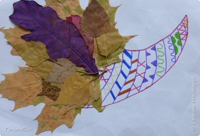 Всем добрый день! Осень постепенно отдаёт бразды правления зиме. Она (осень), как всегда, прекрасна многобразием красок!!! С пятиклассниками сделали работы, посвящённые замечательному времени года! Это мой образец. фото 18