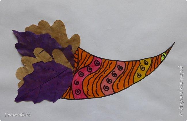 Всем добрый день! Осень постепенно отдаёт бразды правления зиме. Она (осень), как всегда, прекрасна многобразием красок!!! С пятиклассниками сделали работы, посвящённые замечательному времени года! Это мой образец. фото 19
