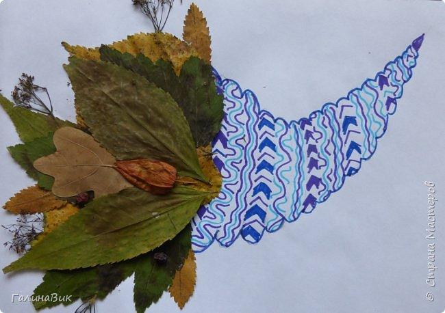Всем добрый день! Осень постепенно отдаёт бразды правления зиме. Она (осень), как всегда, прекрасна многобразием красок!!! С пятиклассниками сделали работы, посвящённые замечательному времени года! Это мой образец. фото 21