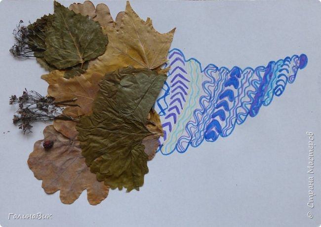 Всем добрый день! Осень постепенно отдаёт бразды правления зиме. Она (осень), как всегда, прекрасна многобразием красок!!! С пятиклассниками сделали работы, посвящённые замечательному времени года! Это мой образец. фото 22