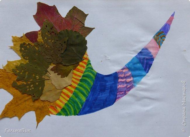 Всем добрый день! Осень постепенно отдаёт бразды правления зиме. Она (осень), как всегда, прекрасна многобразием красок!!! С пятиклассниками сделали работы, посвящённые замечательному времени года! Это мой образец. фото 23