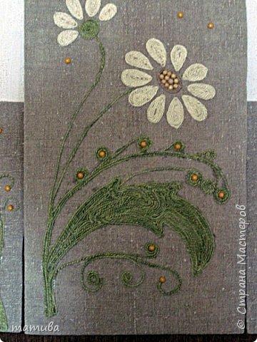 Вместо ковра... Мешковина,джут, деревянные бусинки.  фото 2