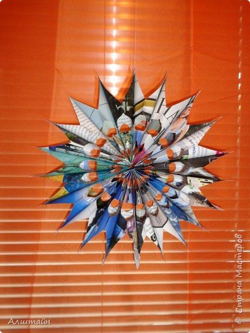 Праздничные украшения 3D из бумаги фото 5