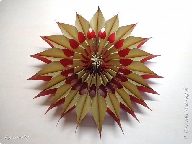 Праздничные украшения 3D из бумаги фото 28
