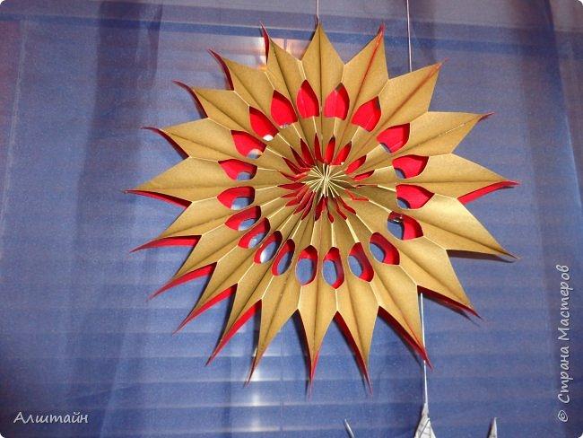 Праздничные украшения 3D из бумаги фото 4