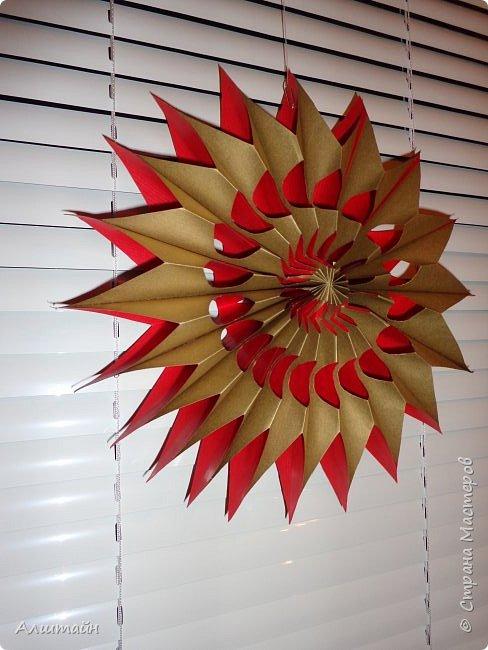 Праздничные украшения 3D из бумаги фото 1