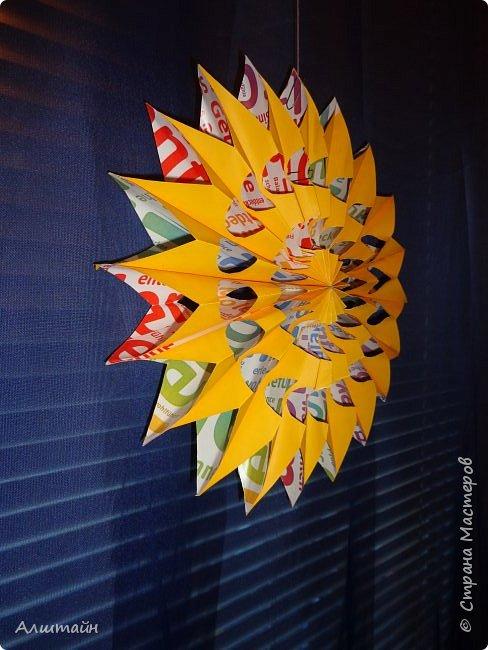 Праздничные украшения 3D из бумаги фото 31