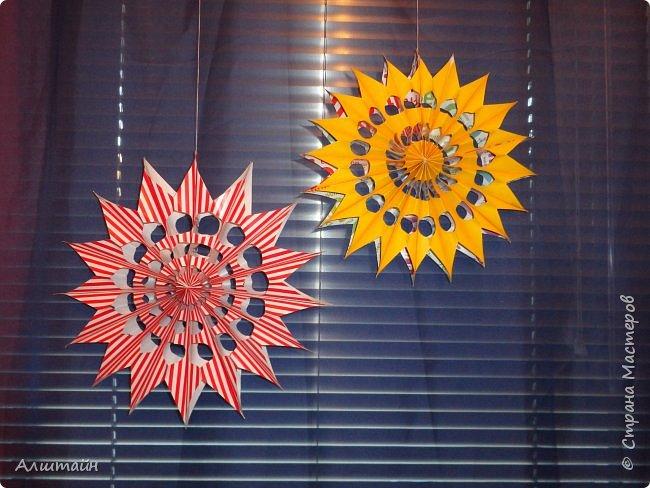 Праздничные украшения 3D из бумаги фото 2
