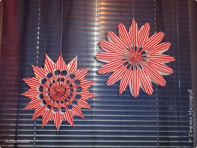 Праздничные украшения 3D из бумаги фото 29