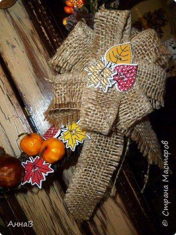 В последнее время я очень увлеклась изготовлением декоративных венков. Вот сделала несколько на осеннюю тему. фото 4