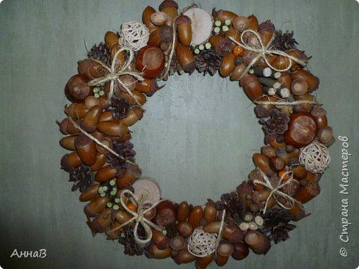 В последнее время я очень увлеклась изготовлением декоративных венков. Вот сделала несколько на осеннюю тему. фото 7