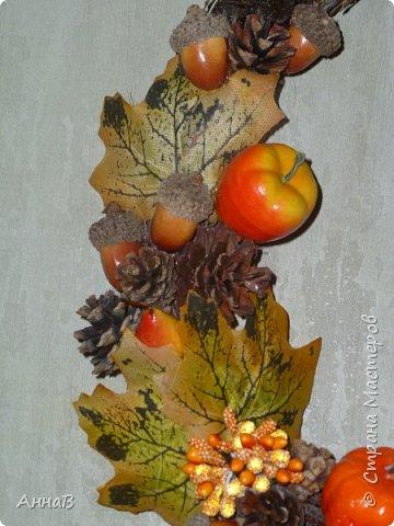 В последнее время я очень увлеклась изготовлением декоративных венков. Вот сделала несколько на осеннюю тему. фото 6