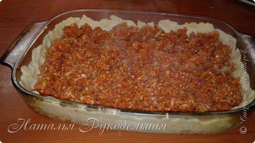 Капустные пироги самые любимые в нашей семье. Капусту можно делать с яйцом тоже будет вкусно. Но мои мужчины больше любят мясо )) фото 4