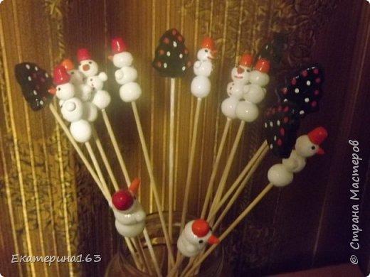 Новогодний декор для оформления букетов.
