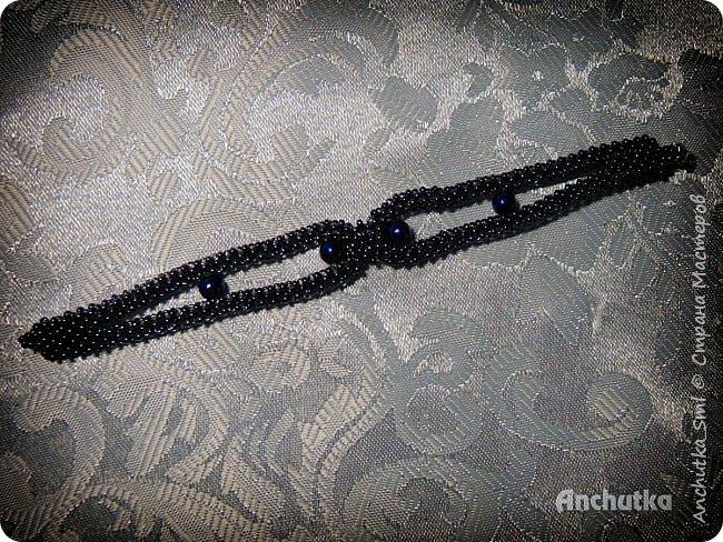 Наконец-то нашлось время выложить мое новое творение – браслет в технике квадратного жгута. фото 4