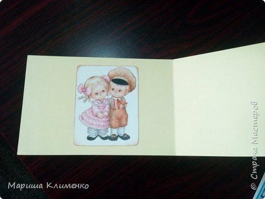 А вот и скрапости)))) Все для того де детского сада))) Так как у нас два воспитателя и нянечка, я сделала три открытки ка Дню Воспитателя)))  Эта многоярусная, тридешная, так сказать фото 4