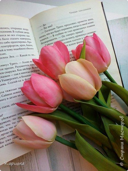 """"""" В моих снах цветы тают и распускается снег"""" ...  Мы все привыкли видеть тюльпаны весной, когда еще не сошел последний снег. Они как вестники весны очаровывают нас своей изящностью..   И сейчас, когда на улице холодная и слякотная осень, как никогда хочется весны, тепла и нежности) Так  почему бы  не подарить ее себе! фото 2"""