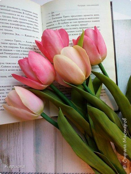 """"""" В моих снах цветы тают и распускается снег"""" ...  Мы все привыкли видеть тюльпаны весной, когда еще не сошел последний снег. Они как вестники весны очаровывают нас своей изящностью..   И сейчас, когда на улице холодная и слякотная осень, как никогда хочется весны, тепла и нежности) Так  почему бы  не подарить ее себе! фото 3"""