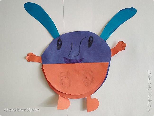 Привет Землянам! делали с детьми поделку из кругов. Получились такие вот инопланетяне. Это барышня фото 9