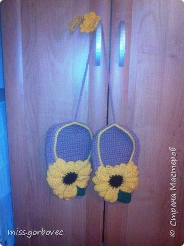 Лапти для расчесок с ромашками для бабули. фото 2