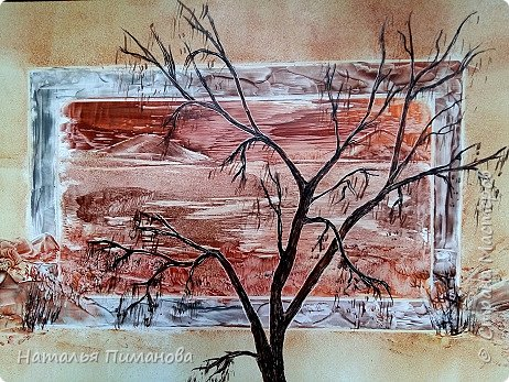 И снова здравствуйте! Как и обещала мои волшебные деревья множатся. Внучка попросила нарисовать и сакуру, и кошечку, и чтобы было все розовое...Размер картины А3. фото 5