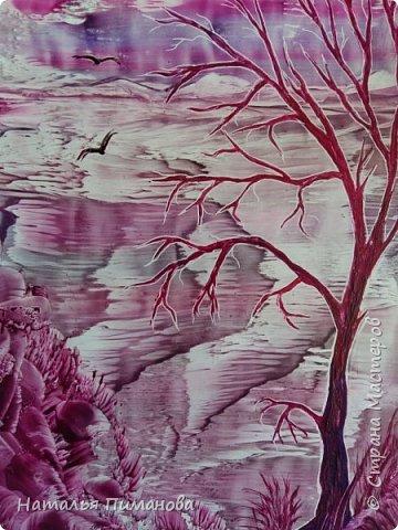 И снова здравствуйте! Как и обещала мои волшебные деревья множатся. Внучка попросила нарисовать и сакуру, и кошечку, и чтобы было все розовое...Размер картины А3. фото 2