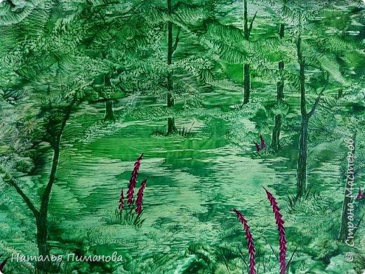 И снова здравствуйте! Как и обещала мои волшебные деревья множатся. Внучка попросила нарисовать и сакуру, и кошечку, и чтобы было все розовое...Размер картины А3. фото 3