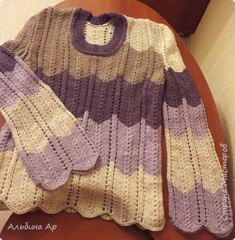 Продолжаю вспоминать вязание! Кофточка для дочки. Нитки так и продавались в одном мотке. Ушло на 48 размер грамм 450-500. фото 1