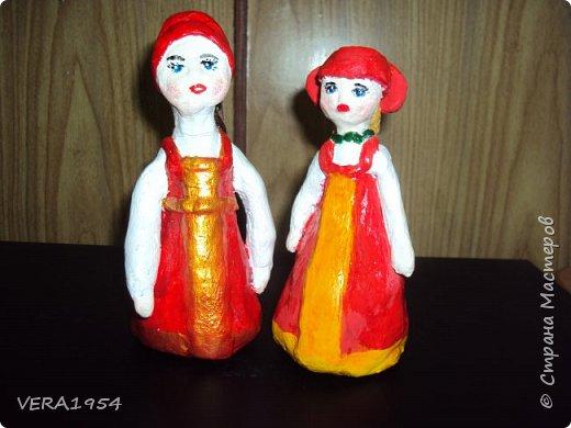 Добрый день!   Летние работы . Дети пробовали себя в лепке  куклы в русском  народном костюме. фото 3