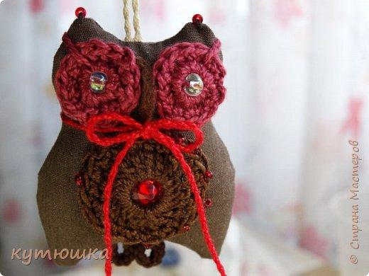 совята-брелочки), высота игрушек около 5-ти см, ткань- американский хлопок, глазки связаны крючком и вшита бусинка) фото 8