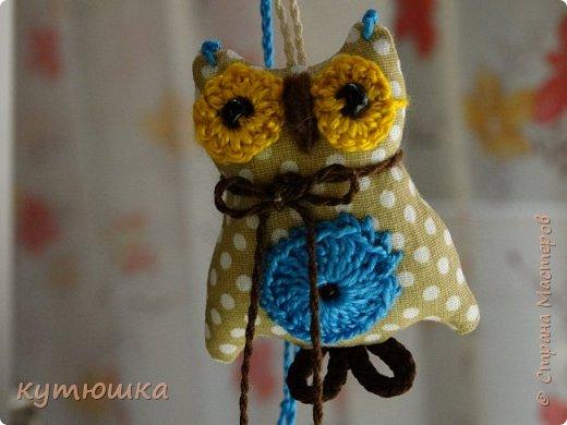 совята-брелочки), высота игрушек около 5-ти см, ткань- американский хлопок, глазки связаны крючком и вшита бусинка) фото 4