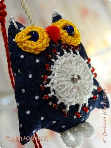 совята-брелочки), высота игрушек около 5-ти см, ткань- американский хлопок, глазки связаны крючком и вшита бусинка) фото 6