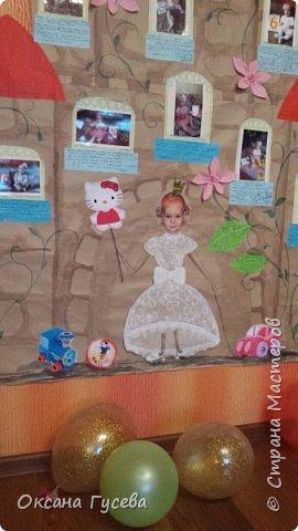 Первый день рождения у маленькой принцессы, так её все называют ласково с рождения! Ну а если принцесса, значит должен быть и замок! Так и родилась эта идея)  Рассказать и показать всем как мы росли и развивались этот год! фото 12