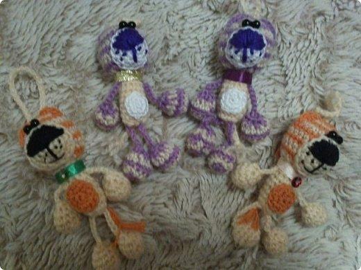 Вязанные брелки 3 фото 4