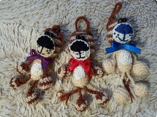 Вязанные брелки 3 фото 2