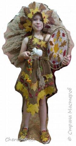 """У нас получился вот такой образ. Хотели назвать его принцесса индейцев, но т.к. осень, то у нас получилась """"принцесса осени"""". Хотя, когда этот костюм увидел друг семьи, то он более точно дал ему название """"шаман осени"""". фото 1"""