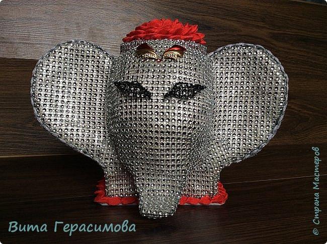 Вот такая слониха хранительница конфет  у меня получилась) фото 1