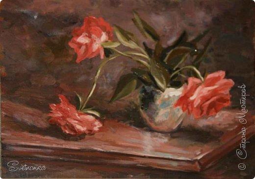 Очень люблю писать цветы! Пожалуй, большинство картин у меня - цветы! Вот несколько свободных копий работ разных художников. Дерек Пеникс (Derek Penix) - молодой американский художник 1980 г.р. из Оклахомы. фото 1