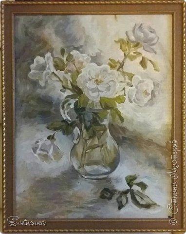 Очень люблю писать цветы! Пожалуй, большинство картин у меня - цветы! Вот несколько свободных копий работ разных художников. Дерек Пеникс (Derek Penix) - молодой американский художник 1980 г.р. из Оклахомы. фото 4