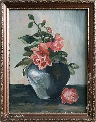 Очень люблю писать цветы! Пожалуй, большинство картин у меня - цветы! Вот несколько свободных копий работ разных художников. Дерек Пеникс (Derek Penix) - молодой американский художник 1980 г.р. из Оклахомы. фото 3