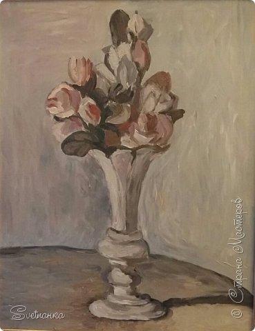 Очень люблю писать цветы! Пожалуй, большинство картин у меня - цветы! Вот несколько свободных копий работ разных художников. Дерек Пеникс (Derek Penix) - молодой американский художник 1980 г.р. из Оклахомы. фото 6