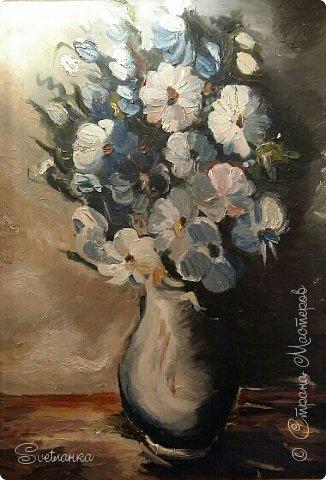 Очень люблю писать цветы! Пожалуй, большинство картин у меня - цветы! Вот несколько свободных копий работ разных художников. Дерек Пеникс (Derek Penix) - молодой американский художник 1980 г.р. из Оклахомы. фото 5