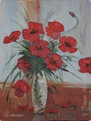 Очень люблю писать цветы! Пожалуй, большинство картин у меня - цветы! Вот несколько свободных копий работ разных художников. Дерек Пеникс (Derek Penix) - молодой американский художник 1980 г.р. из Оклахомы. фото 8