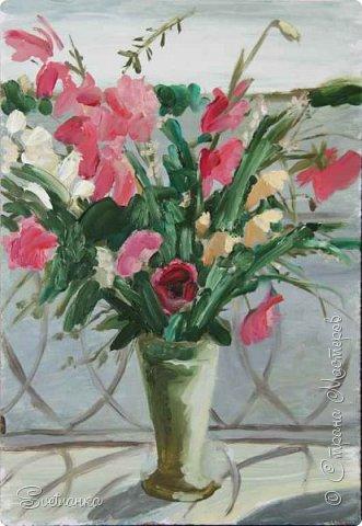 Очень люблю писать цветы! Пожалуй, большинство картин у меня - цветы! Вот несколько свободных копий работ разных художников. Дерек Пеникс (Derek Penix) - молодой американский художник 1980 г.р. из Оклахомы. фото 2