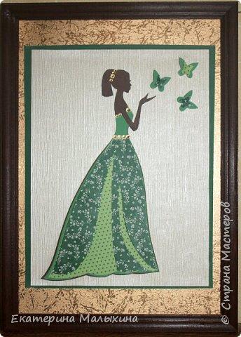 """Эту открытку """"Танцующая девочка"""", я сделала для своей племяшки. Она занимается танцами.  фото 2"""