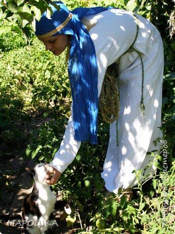"""на фестиваль """"Один день жизни средневекового города Укек"""" , на историческую площадку, пускали только при наличии """"правильного костюма"""" - пришлось пошиться! в этом костюме я и была на средневековом базаре с травяными веревками, травами-чаями, костяными иголками, моя роль - славянка 13 века   фото 5"""